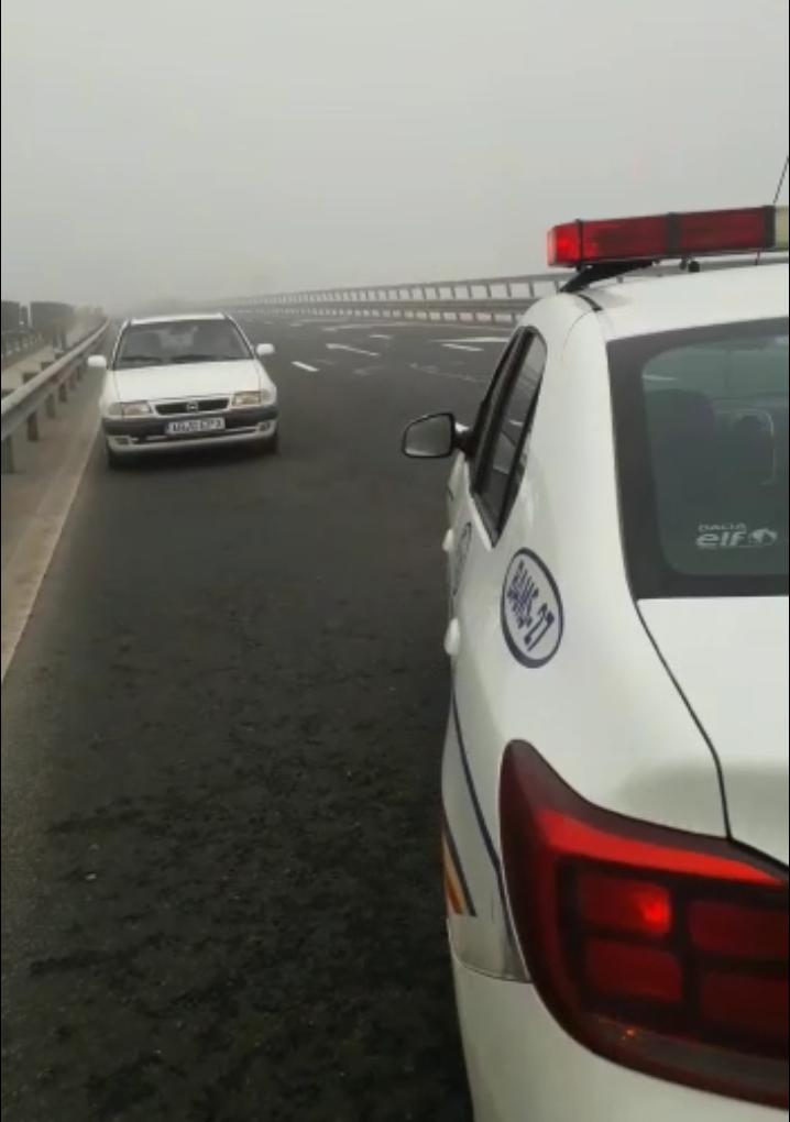 Șofer de 77 ani, pune în pericol traficul de pe A1 Sibiu-Deva
