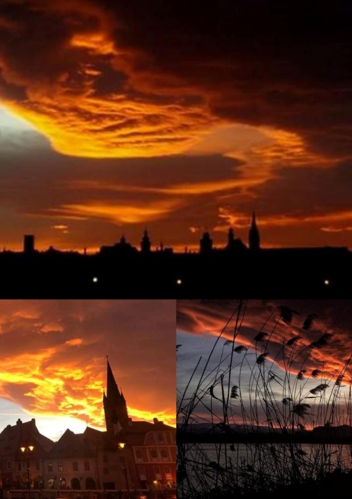 Spectacol pe cer la Sibiu