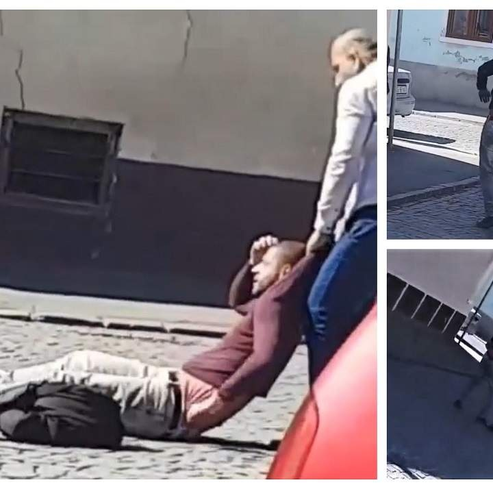 Hoț prins și bătut în stradă, de patronul vigilent al unei bijuterii din Sibiu