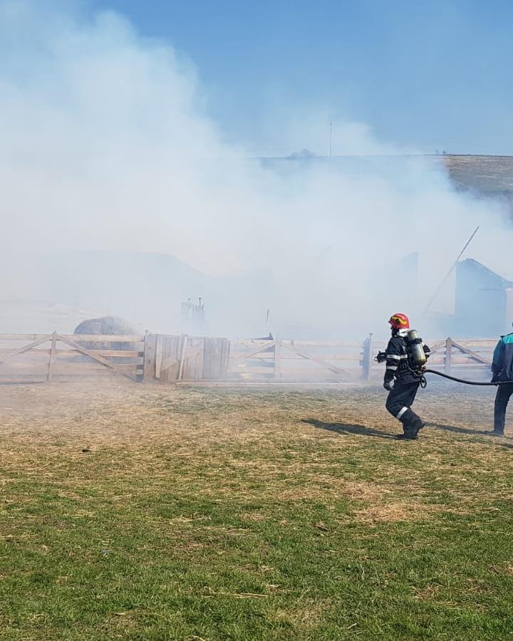Incendiu la o stana in Sura Mare