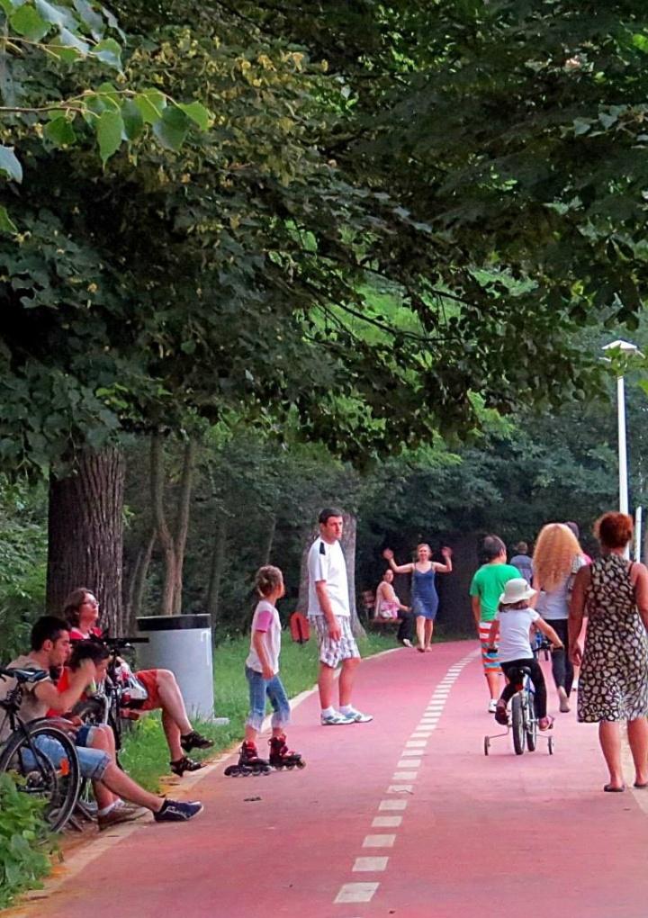 Băiețel de 8 ani acroșat de un biciclist de 40 de ani, în Parcul Sub Arini