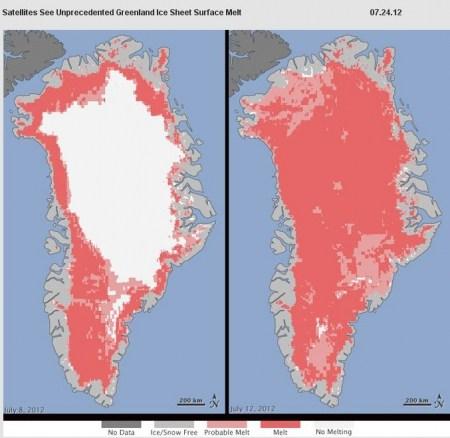 Două miliarde de tone de gheață topită într-o zi