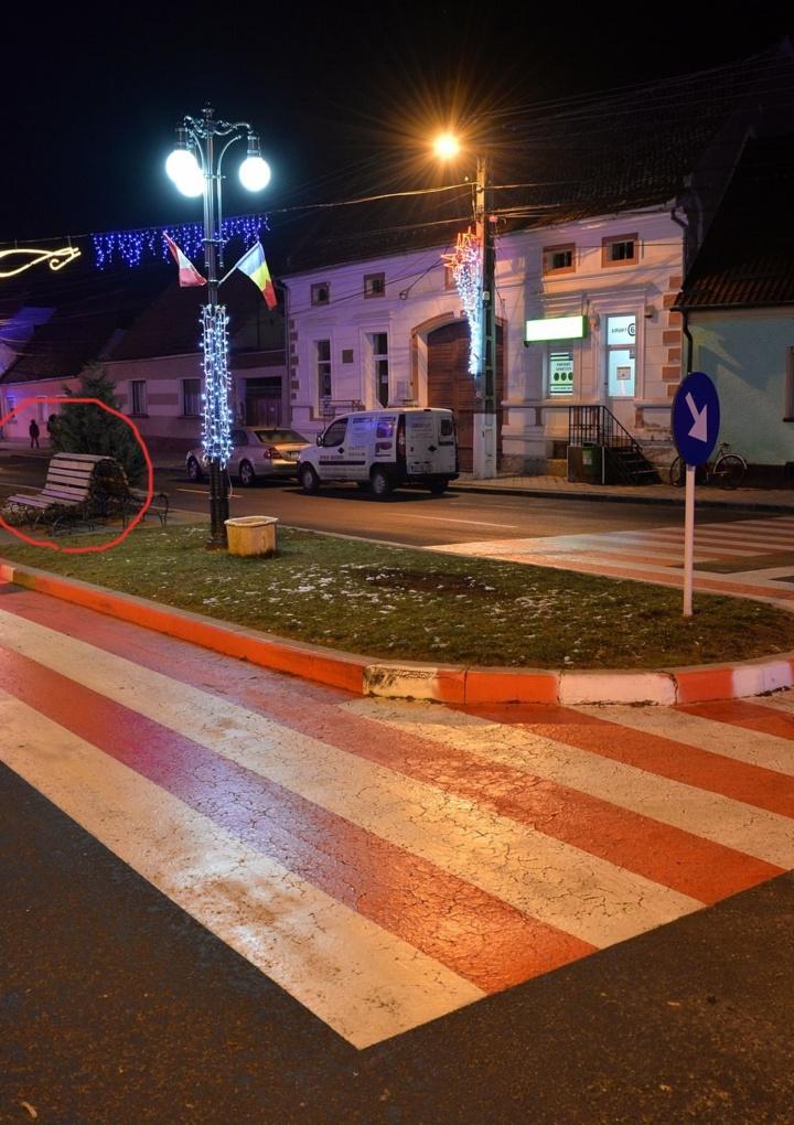 Prima trecere de pietoni pentru cetățeni turmentați se află în Ghimbav