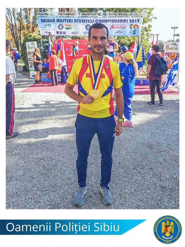 Rezultate excelente obținute de un polițist sibian la Campionatul Balcanic de Atletism – Masters