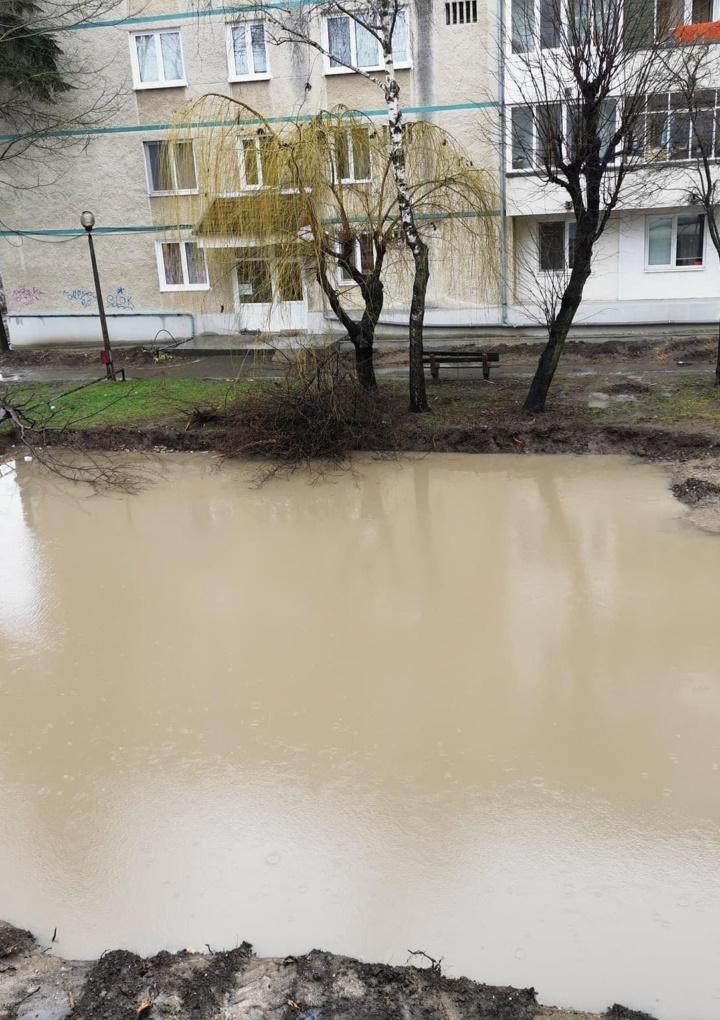 """Lacul lui Binder """"s-a mutat"""" pe strada Rahovei"""
